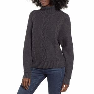 NEW BP. Cozy Cable Knit Turtleneck Sweater